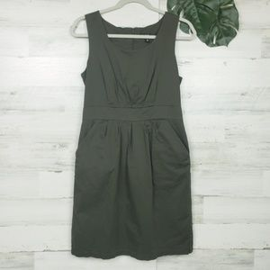 Mossimo Olive Green Strapless dress with Pockets